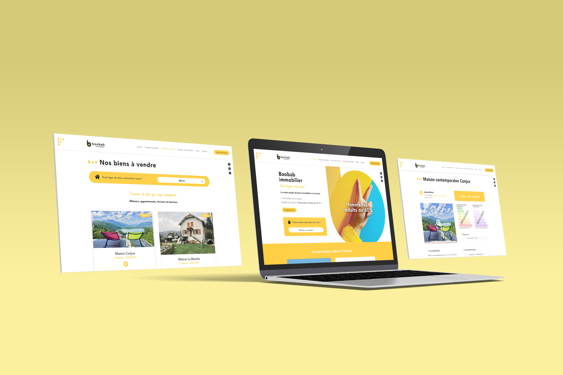 Site internet   Baobab Immobilier